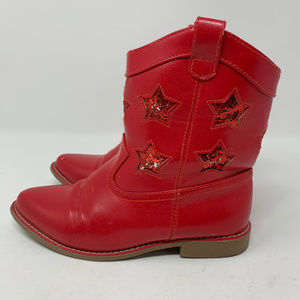 Gymboree, Red Cowgirl Boots, Girls Size 13 (75)